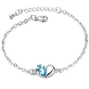 Harga LOVENGIFTS Swarovski In My Heart Bracelet (Blue)