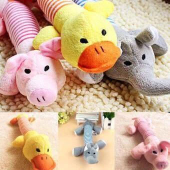 Harga New Dog Pet Puppy Plush Squeaker Squeaky Toys Pig Duck & Elephant toys