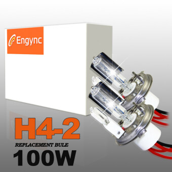 Harga Engync 100W Super Bright H4 (HB2) (9003) Lo/Hi Halogen Xenon HID Replacement Bulbs - Hi/Low 4300K