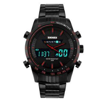 Harga SKMEI Brand Men's Outdoor Sport LED Analog Digital Stainless Steel Strap Military Army Fashion Casual Wristwatches