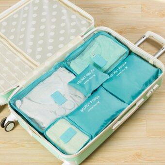 Harga GoTravel 7009 Korean Multifunction Set 6 in 1 Clothes Storage Travel Luggage Organizer Bag (Blue)
