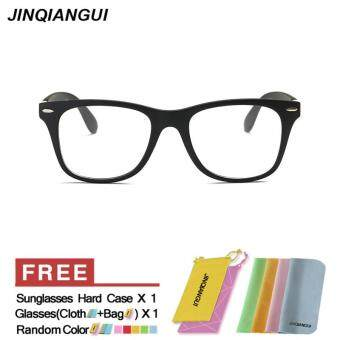 Harga JINQIANGUI Glasses Frame Women Square Plastic Eyewear Black Color Frame Brand Designer Spectacle Frames for Nearsighted Glasses
