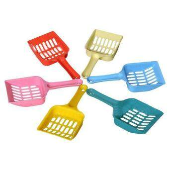 Harga New Plastic Pet Dog Cat Kitten Litter Scoop Scooper Cleaning Tool Randomly