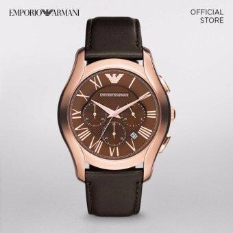 Harga ARMANI VALENTE DARK BROWN STAINLESS STEEL WATCH
