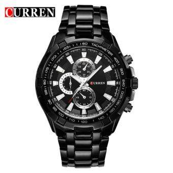 Harga CURREN Watches Men quartz Analog Military male Watches Men Sports army Watch Waterproof 8023 Black