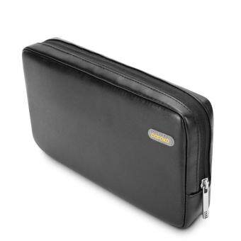 Harga POFOKO Martin Series PU Leather Storage Pouch for Tablet/Hard Disk/Mouse etc - Black / L Size