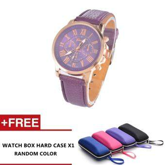 Harga Nero Fashion Women Quality Leather Belt Casual Fashion Watches (Purple)