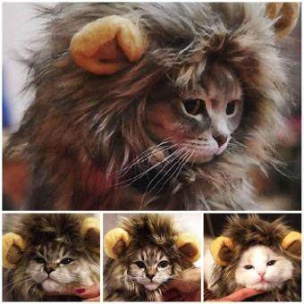 Harga Pet Hat Lion Mane Wig For Cat Halloween Dress Up With Ears Festival Party