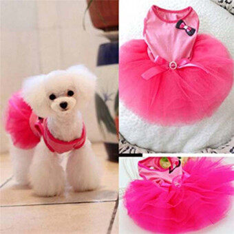 Harga Hanyu Pet Dogs Puppy Butterfly Corsage Puff Tutu Dresses Costumes for Pets Dogs S Rose Red