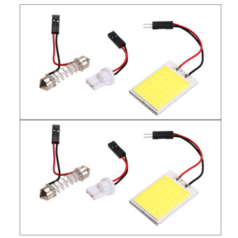 Harga 2pcs Xenon HID White24 COB LED Dome Map Light Bulb Car Interior Panel Lamp (Intl)