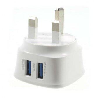 Harga Original LDNIO DL- AC63 2.4 Amp 2 USB Port Port for iPhone iPad Samsung HTC etc Battery Charger(White)