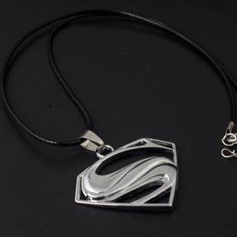 Harga Hequ Superman S merch logo symbol stainless steel Pendant w 30 Ball Chain Necklace Men Necklace Silver