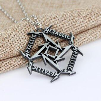Harga Silver Plated Metallica Music Rock Band Logo Necklace Pendant Fall Out Boy Jewelry Gift