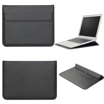 "Harga LYBALL Macbook 13"" Inch Case Sleeve with Stand Function Apple Macbook Ultrabook Wallet Sleeve Carry Bag PU Leather Cover Case Laptop Carrying Bag with Rear Pocket Design Apple MacBook For 13 inch(Air 13""&Pro13"" A1278) Black"