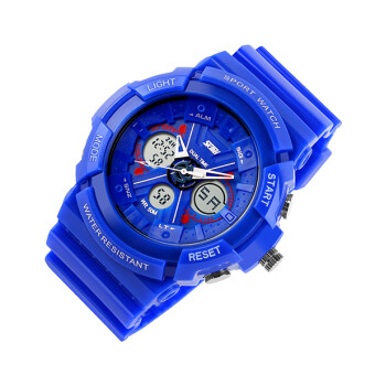 Harga SKMEI Watch 0966 Sale Hot Double Time Display Unisex Fashion Sport Digital Quartz Alarm Waterproof LED Electronic Analog-digital Watches