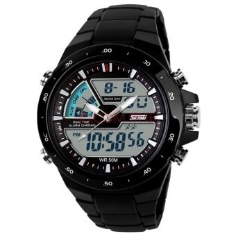Harga SKMEI 1016 Silicone Waterproof Men Sport LED Wrist Watch