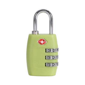 Harga Fashion Resettable Digit Combination Password Travel Luggage Suitcase Lock Padlock(Green)