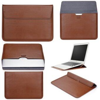 "Harga LYBALL Macbook 11"" Inch Case Sleeve with Stand Function Apple Macbook Ultrabook Wallet Sleeve Carry Bag PU Leather Cover Case Laptop Carrying Bag with Rear Pocket Design, Brown"