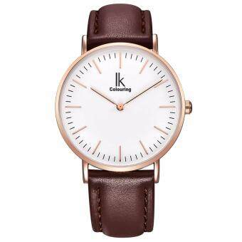 Harga Shentong IK Colouring Women's Quartz Watch with Easy Reader Dial Analogue Display and Leather Strap (White)