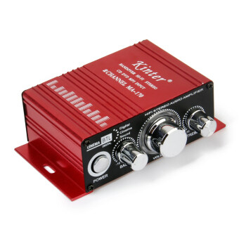 Harga Red Mini Car Motorcycle MP3 Hi-Fi Stereo Audio Amplifier