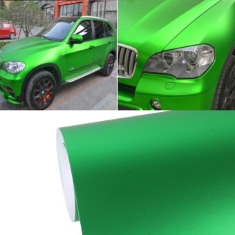 Harga 1.52m × 0.5m Ice Blue Metallic Matte Icy Ice Car Decal Wrap Auto Wrapping Vehicle Sticker Motorcycle Sheet Tint Vinyl Air Bubble Free(Green)