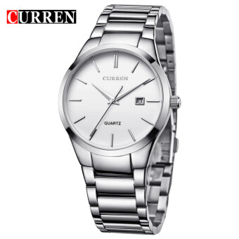 Harga CURREN Full Stainless Steel Men Watch 8106 SILVER WHITE