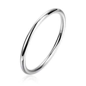 Harga Men's Smooth Round Bracelet European and American Wind Round Simple Silver Bracelet