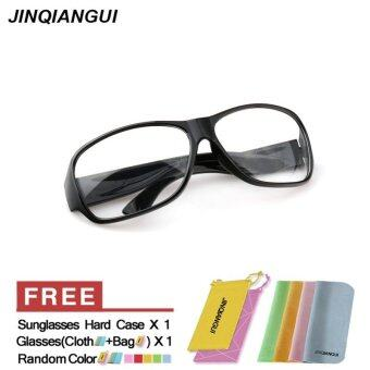 Harga JINQIANGUI Sunglasses Men Rectangle Sun Glasses Clear Color Brand Design