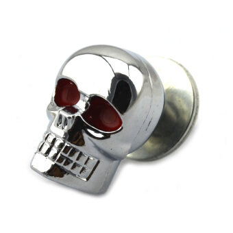 Harga Jtron Skull Style Decorated DIY Screw for Harley Motorcycle - Silver + Red