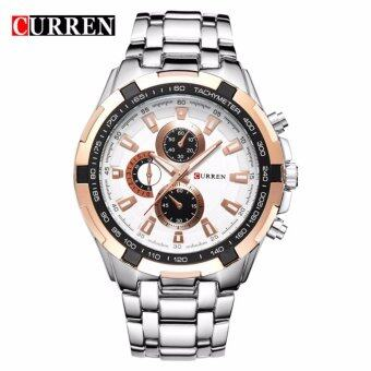 Harga Curren 8023 Men's Gold White Stainless Steel watch