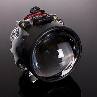 "Harga 2.5"" Car Mini Bi-xenon HID Projector Lens Angels Eye Headlight Shroud H1 H4 H7"