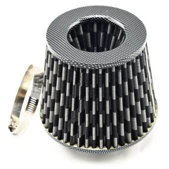 Harga Air Filters Car/Truck/SUV Universal 3 inch/75mm High Flow Air Intake Cone Filter Carbon New Air Intake Filter