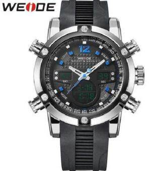 Harga WEIDE Fashion Sport Stainless Steel Case Waterproof Men Quartz Casual Military Watch WH5205