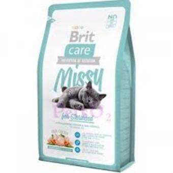 Harga Brit Care Missy for Sterilised Hypoallergenic Chicken & Rice Formula Adult Cat Food 2kg