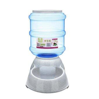 Harga Cats and Dogs Pets Accessories Large Automatic Pet Feeder Drinking Fountain Bowl 3.5L - Light Blue