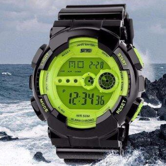 Harga Watches Men Skmei Watch Military Army Watch Brand LED Digital Watch Sport Wristwatch Waterproof Casual Outdoor Sport Wristwatch(Green)