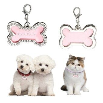 Harga Stainless Steel Pet Cat Dog Bone In ID Dog Tag Form Tags Custom