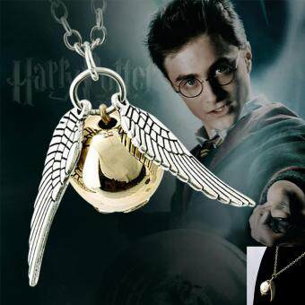 Harga Moonar Fashion Harry Potter Golden Snitch Necklace for Men