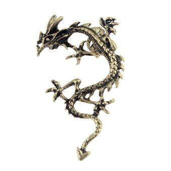 Harga New Fashion Gothic Punk Temptation Metal Dragon Bite Ear Cuff Wrap Clip Earring Bronze Dragon