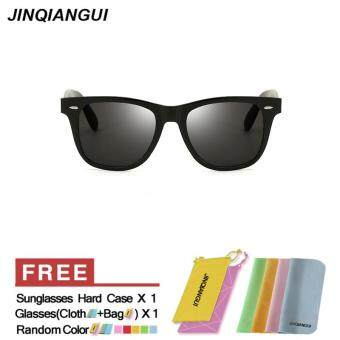 Harga JINQIANGUI Sunglasses Men Square Plastic Frame Sun Glasses Black Color Eyewear Brand Designer UV400