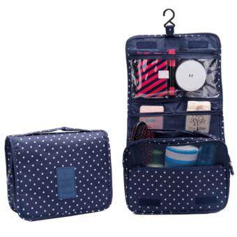 Harga GoTravel 7007 Korean Multipurpose Travel Organizer Kit Pouch Cosmetic Bag with Hook (NavyBlue)