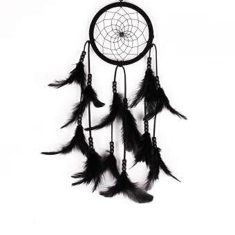 Harga Black Car Hanging Decoration Feather Dream Catcher