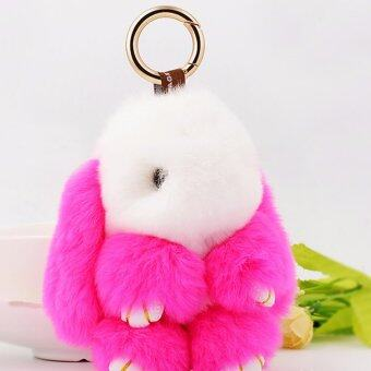 Harga LYBALL Original Cute Exquisite Bunny Rabbit Fur Bag Handbag Schoolbag Keychain Doll Ball Key Ring Car Pendant