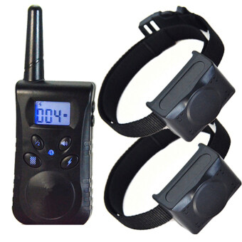 Harga NEW Waterproof Dog 1000M LCD No-bark Collar Electric Shock PetTraining Remote For 2 dogs