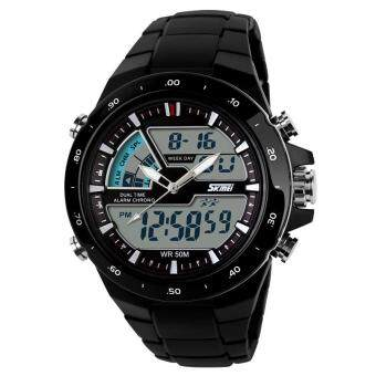 Harga SKMEI Watch Men Fashion Casual Analog Digital Wristwatch Alarm 30M Waterproof Military Chrono Calendar Relogio Masculino 1016