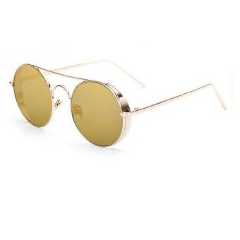 Harga JINQIANGUI Sunglasses Women Round Retro Gold Color Polaroid Lens Titanium Frame Driver Sunglasses Brand Design