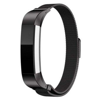 Harga High Quality Brand Luxury Genuine Magnetic suction Milanese Strap Watch Band Excellent Wrist Strap For Fitbit Alta Tracker Black