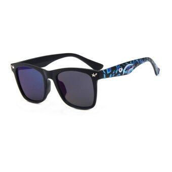 Harga JINQIANGUI Sunglasses Men Sun Glasses Blue Color Brand Design - Intl