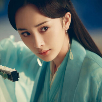 Harga Yang Mi Top Chinese TV Show To the Sky Kindom San sheng san shi shi li tao hua Yang Mi Same Earrings White Petal