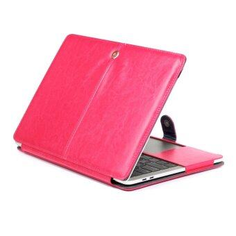 "Harga 2016 Latest Premium Quality PU Leather Book Cover Clip On Sleeve Case Cover for Newest Apple MacBook Pro 13.3"" A1706&A1708 Rosegold"